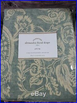 TWO Pottery Barn ALESSANDRA FLORAL Blackout Curtains Drapes 50x84 Pole Top
