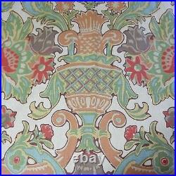 Vintage 1 Pair (2) Pottery Barn Simone Drape 50x84L Floral Curtains Set Rare