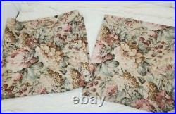 Vintage Pottery Barn Curtains 2 Panel Floral Lined Cotton Blend 43.5 x 84