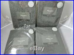 West Elm set of 4 Belgian Flax Linen Curtain Drapes Slate 48x96 Pottery Barn
