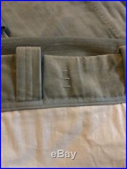 X 2 Pottery Barn Lined Velvet Drape Set 50 X 96 Porcelain Blue Panels